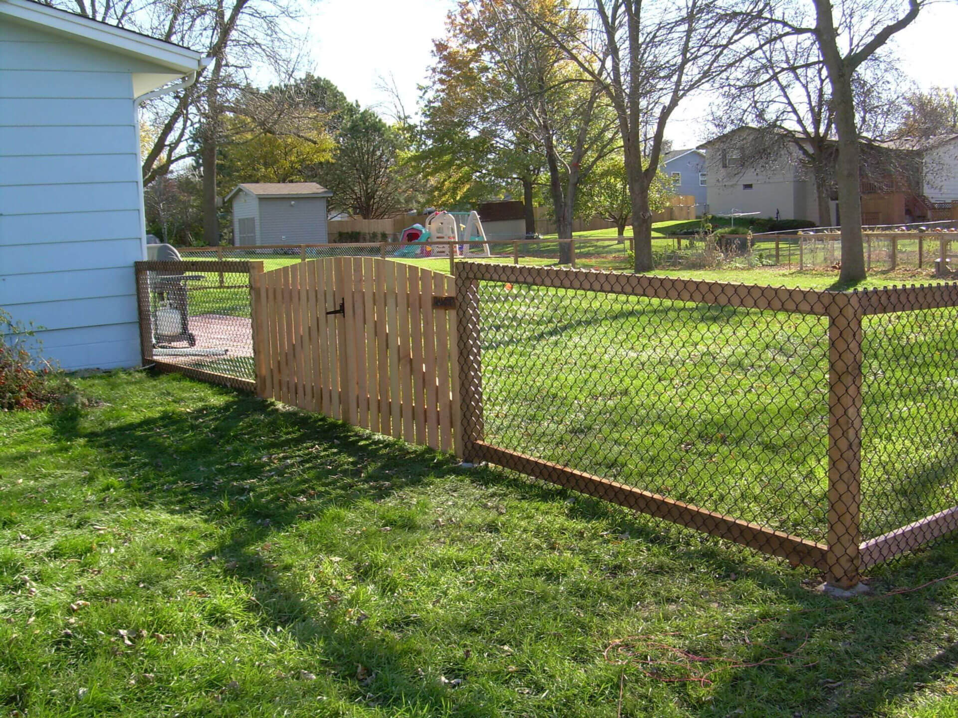 Chain link fence in st paul lakeville twin cities woodbury