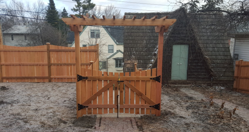 Concave Double Gate With Trellis Dakota Unlimited