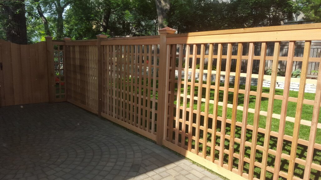 Lattice Fences In St Paul Lakeville Woodbury Twin