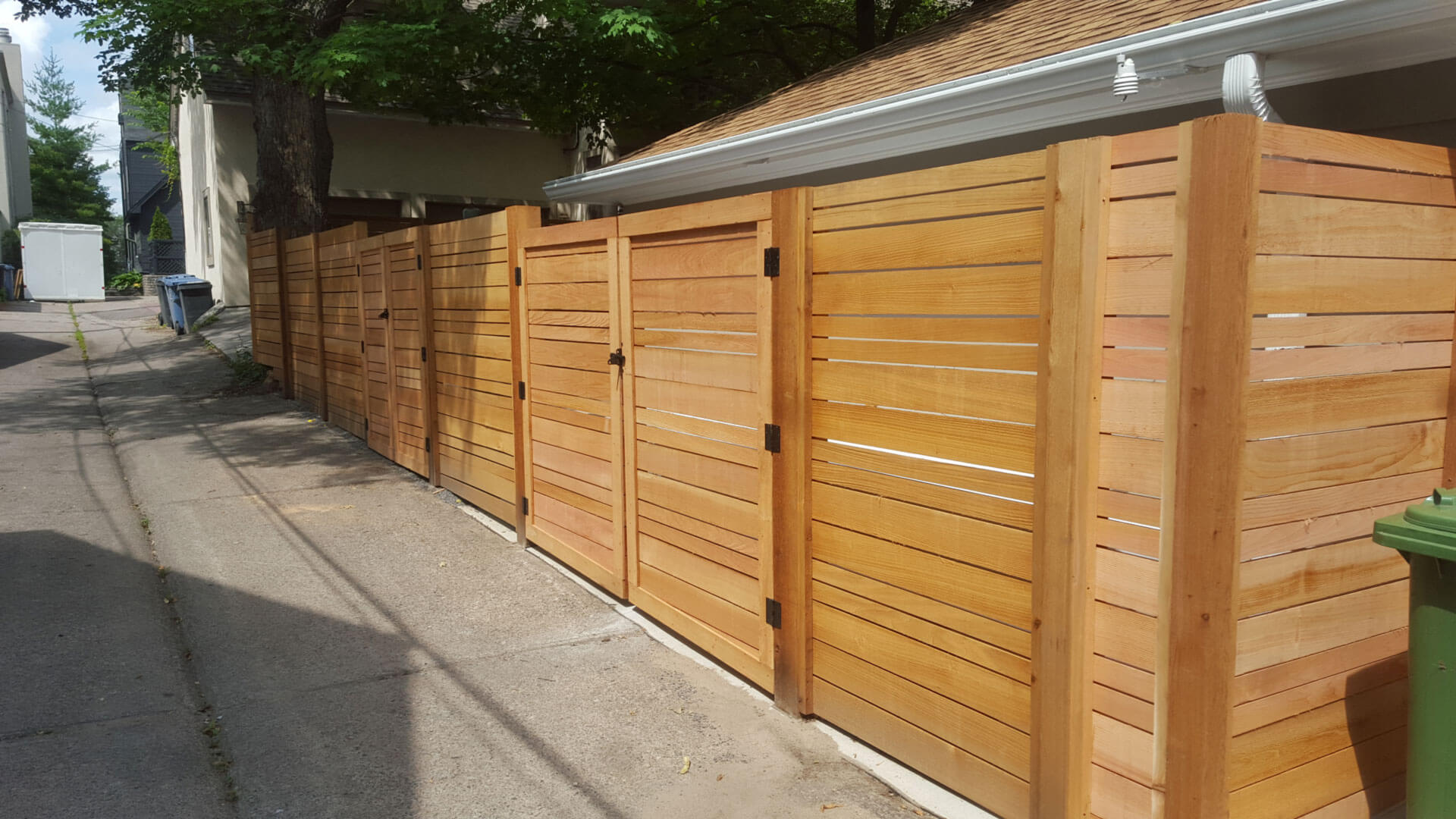 Horizontal Board Fence In St Paul Lakeville Twin Cities