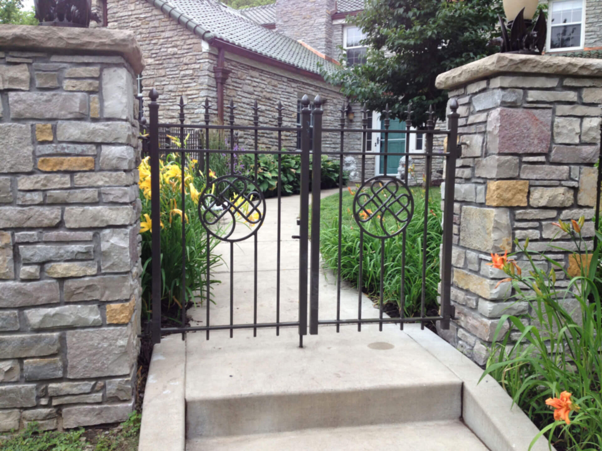 wrought iron fence gate. Wrought Iron Fences In St Paul, Lakeville, Woodbury, Twin Cities, Cottage Grove \u0026 Minneapolis, (MN) - Dakota Unlimited Fence Gate