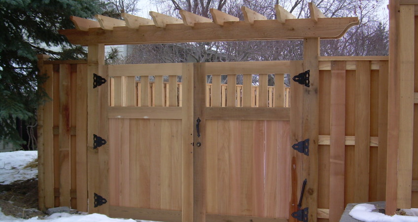 Double Drive Gate With Trellis Dakota Unlimited