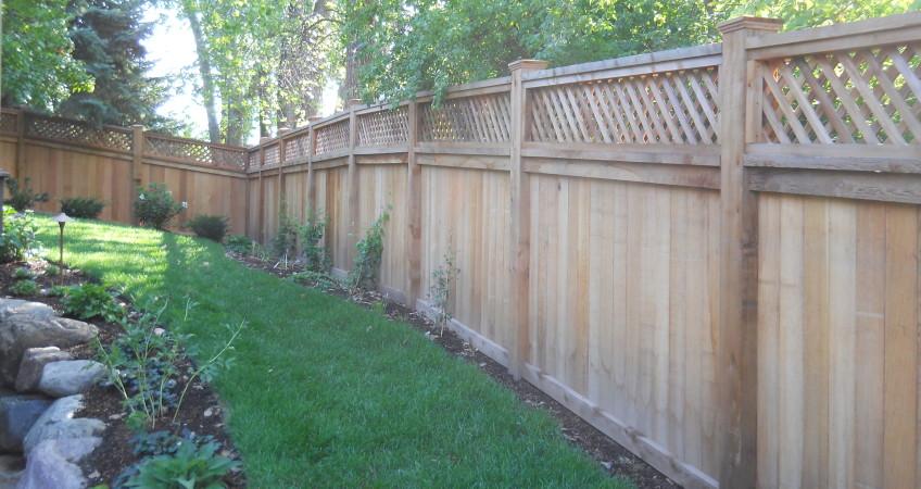 Lattice Top Fence Dakota Unlimited Fence Company