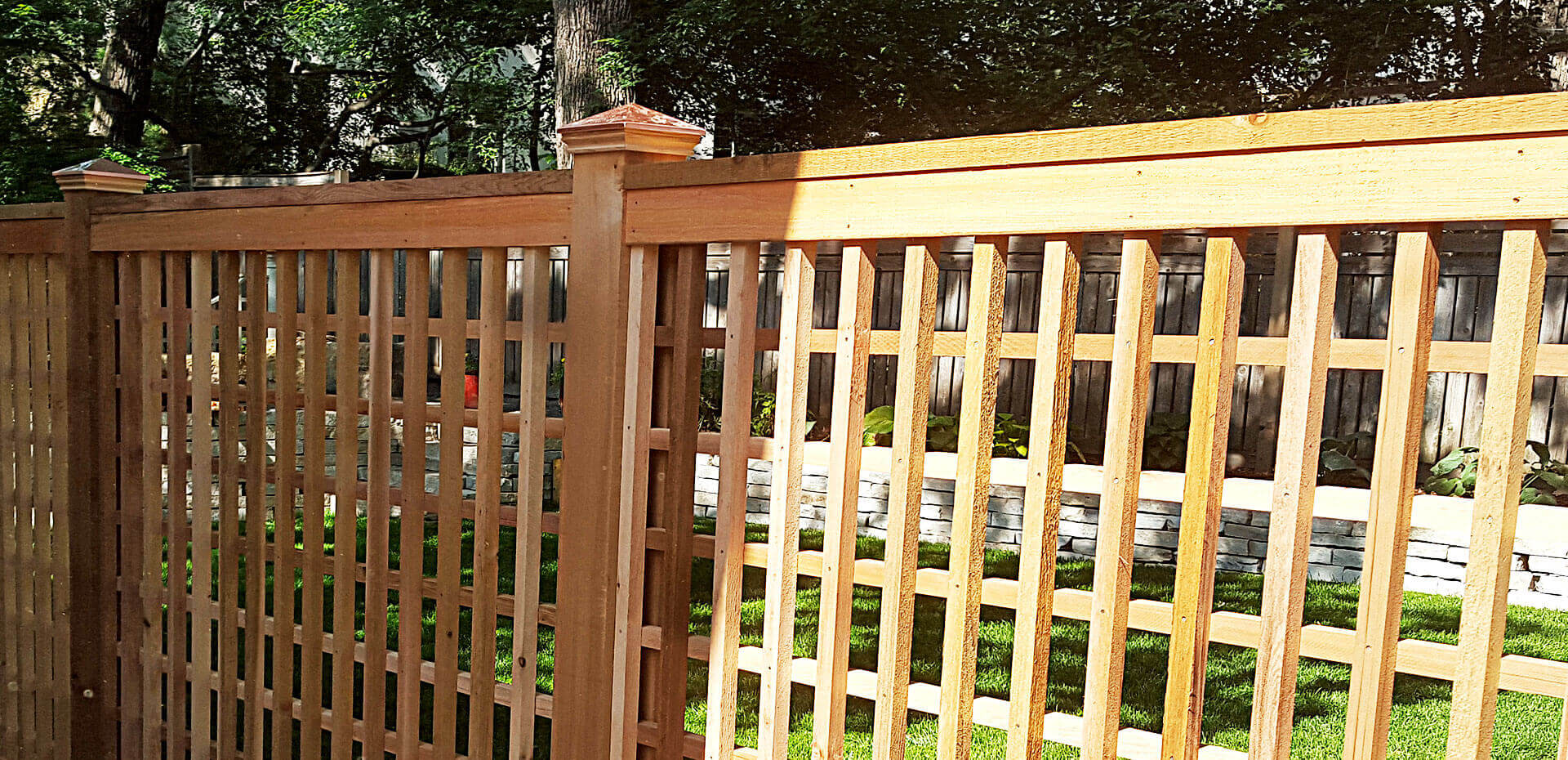 Wood fence in st paul lakeville twin cities woodbury cottage lattice baanklon Images