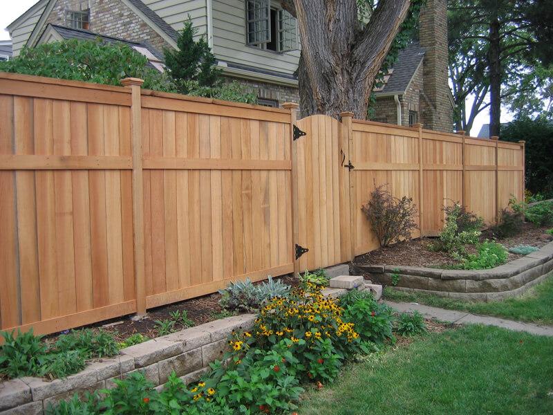 Fencing contractor minneapolis wood cedar vinyl for High privacy fence ideas