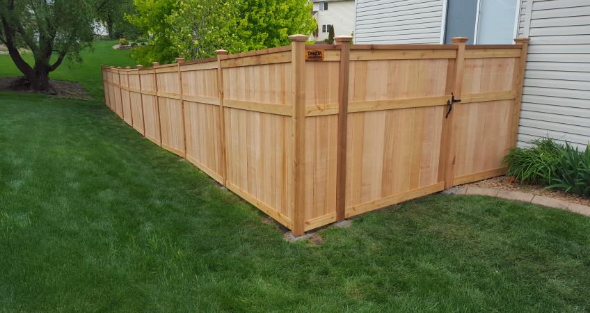 Lincoln Solid Board Fence Dakota Unlimited Fence Builder