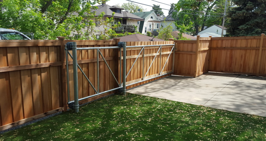 Wood Faced Cantilever Gate Dakota Unlimited Fence Builder